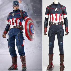 Avengers: Age Of Ultron Captain America Steve Rogers Cosplay Costume Deluxe