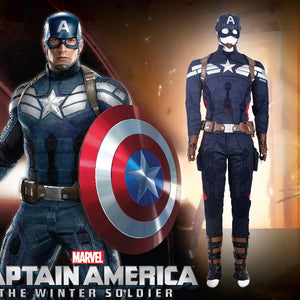 Deluxe Captain America 2 Steve Rogers Cosplay Costume