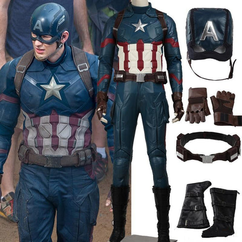 Captain America 3 Civil War Steven Rogers Cosplay Costume Captain America Costume