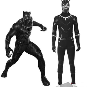 Captain America Civil War Black Panther Costume T'Challa Cosplay Costume