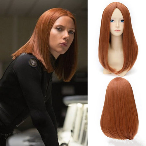 Captain America Black Widow Cosplay Wig