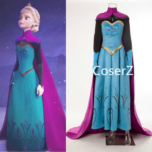 Custom-made Elsa Coronation Dress