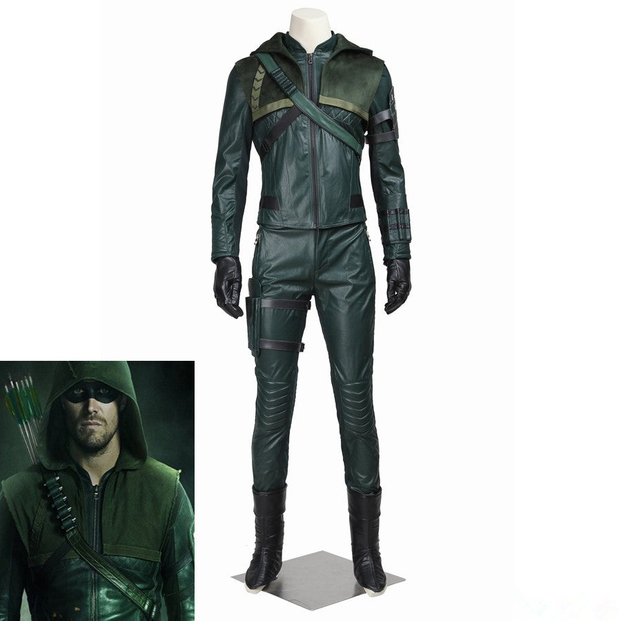 Green Arrow Season 3 Oliver Queen Arrow Cosplay Costume