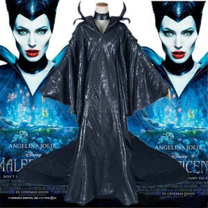 Maleficent Cosplay Costume Black Witch Dress Cosplay