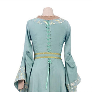 Maleficent Princess Aurora Blue Dress Cosplay Costume
