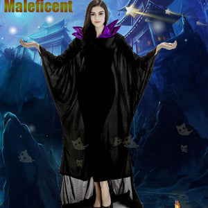 Maleficent Black Witch Cosplay Dress Costumes