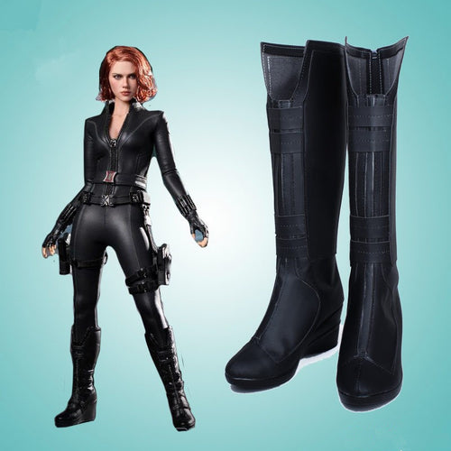 Black Widow Cosplay Boots Halloween Shoes