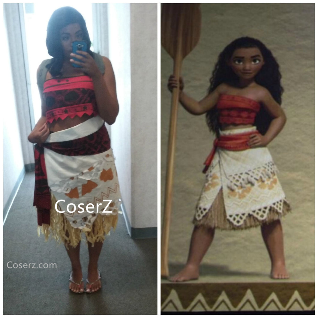 Moana costume, Moana Cosplay Dress