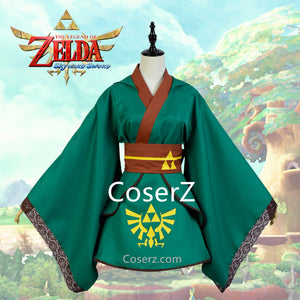 Custom The Legend of Zelda Female Link Costume Girl Cosplay