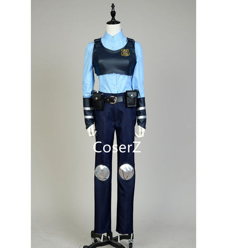 Zootopia Rabbit Bunny Officer Judy Costume Uniform Outfit
