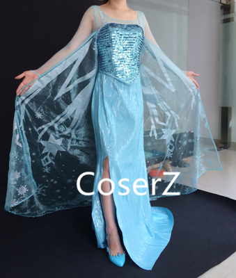 Custom-made Elsa Dress, Elsa Cosplay Costume Halloween Costume