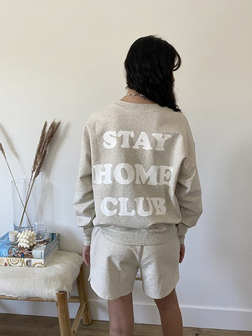 """Stay Home Club"" Sweater"