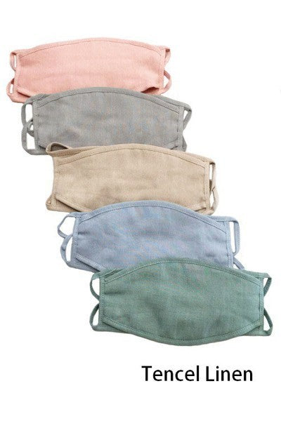 Solid Linen Face Masks