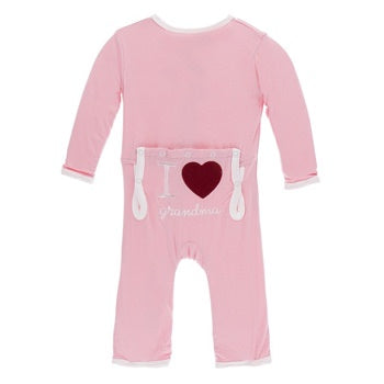 """I Love Grandma"" Applique Coverall"