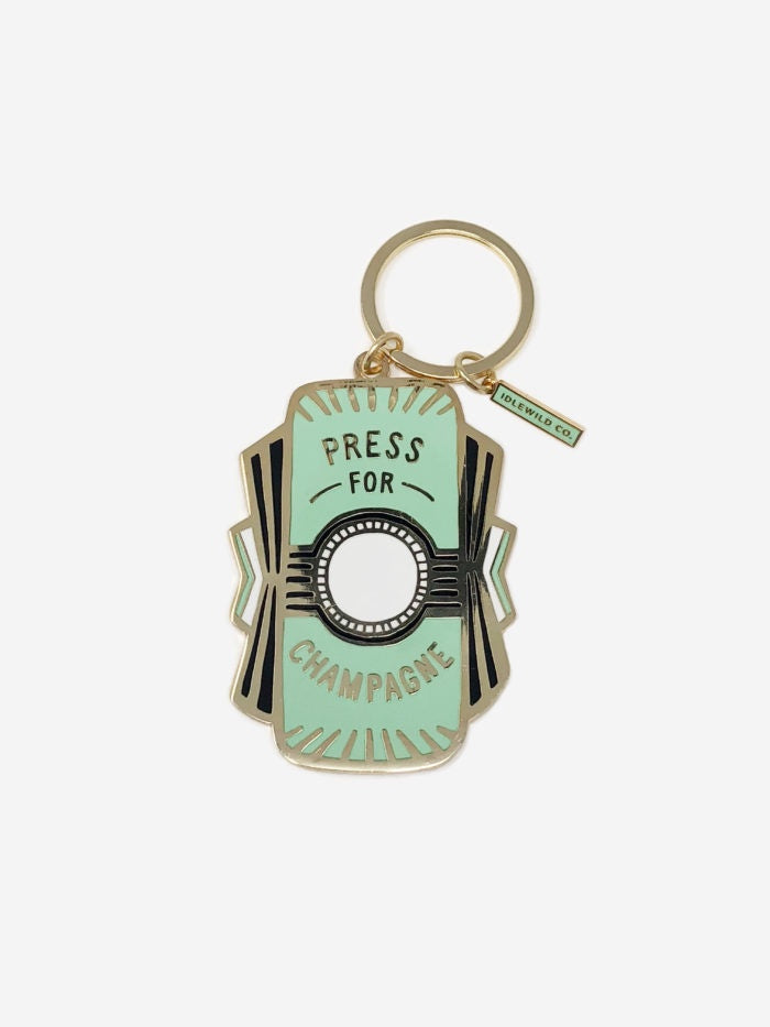 """Press for Champagne"" Keychain"