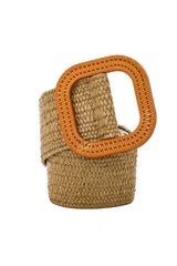 Woven Belt w. Wooden Buckle