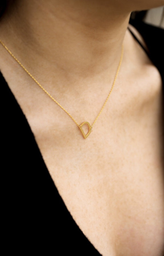 Small Sideways Initial Necklace