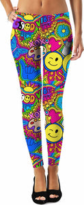 Good Vibes Hippie Collage Leggings