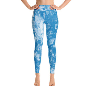 Shibori Blue Performance Yoga Leggings