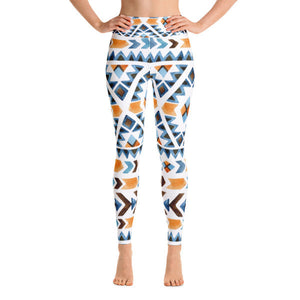 Aztec Watercolors Performance Yoga Leggings