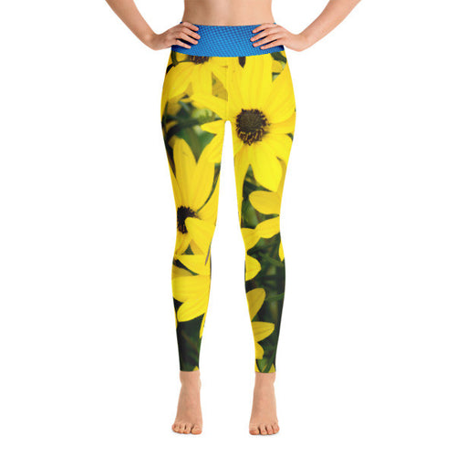 Sunflowers in the Summer - Performance Yoga Leggings