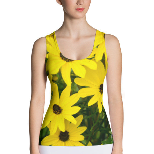 Sunflowers Performance Tank Top