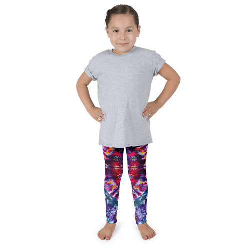 Purple Tie-Dye Kid's leggings