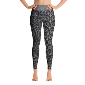 Dark Paisley Performance Yoga Leggings