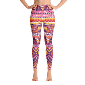 Love Birds Aztec Performance Yoga Leggings
