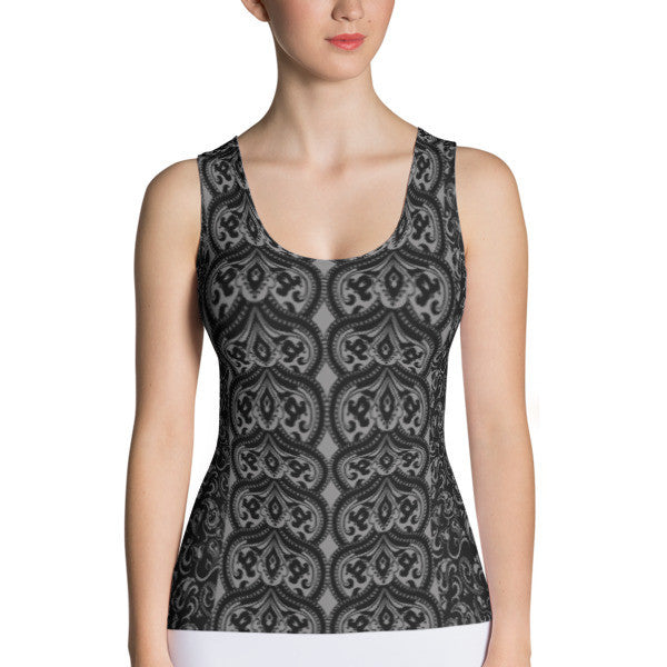 Dark Paisley Performance Tank Top