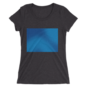 Ladies' short sleeve t-shirt - Blue Halftone