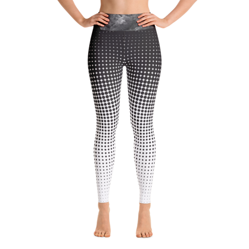 Halftone B&W Performance Yoga Leggings