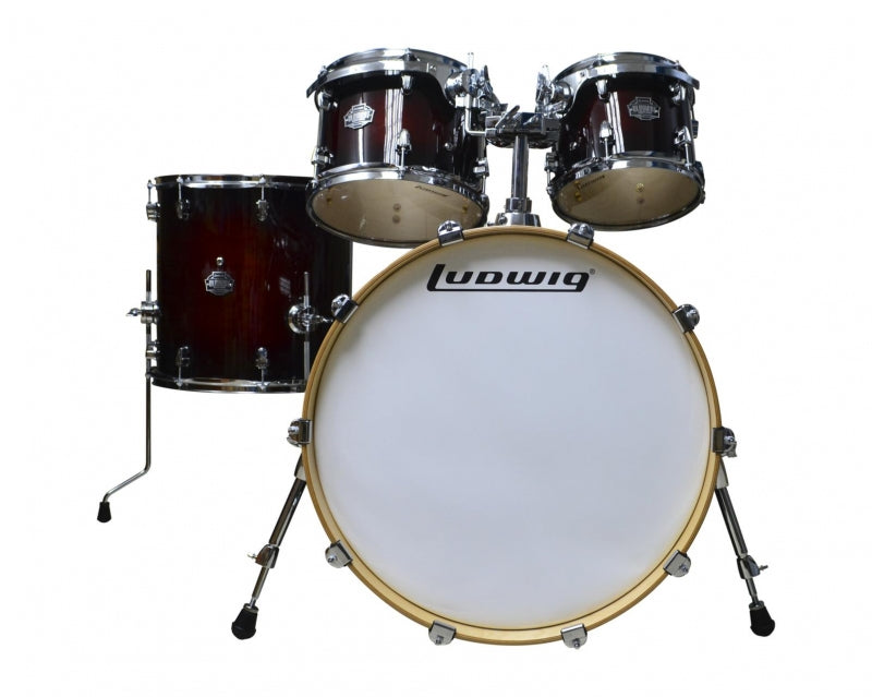 BATERIA  ELEMENT BIRCH 22´ - 16´ DEEP BROWNBURST LCB522FXMWDIR LUDWIG