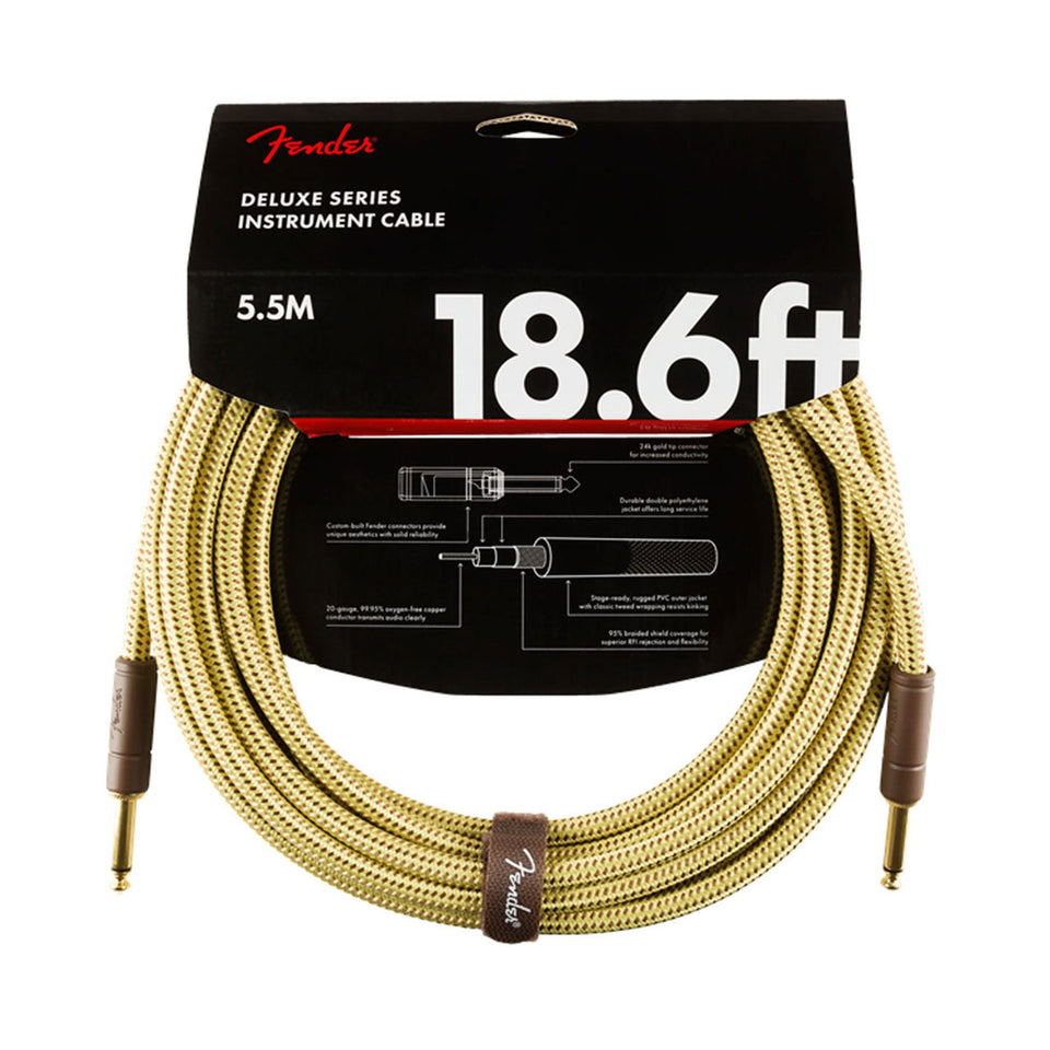 CABLE INSTRUMENTO DELUXE 4,5MTS TWEED 0990820081 FENDER
