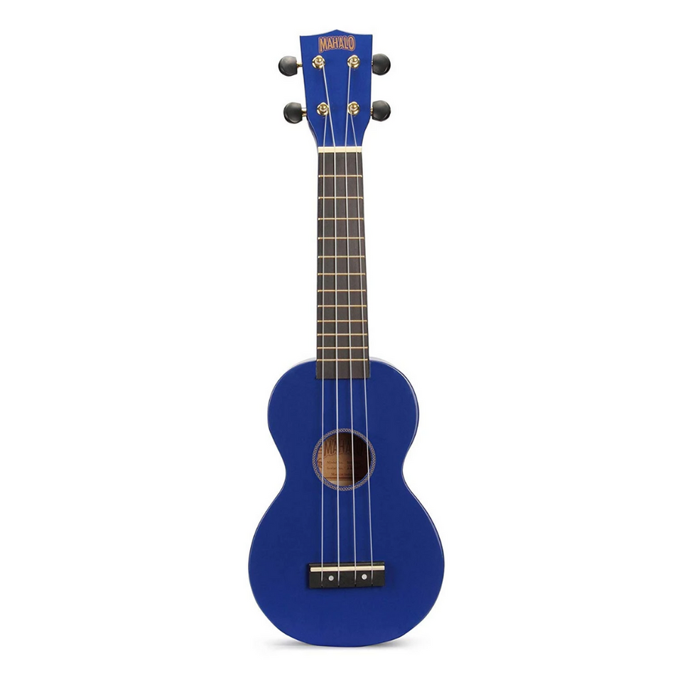 UKULELE SOPRANO UKULELE, BLUE WITH ESSENTIAL PACK MR1buk MAHALO