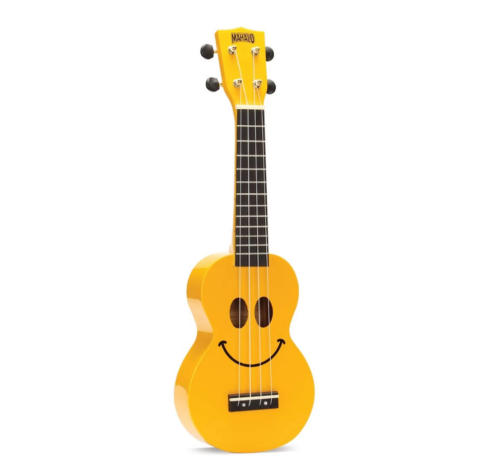 UKULELE SOPRANO SMILEY YELLOW U-SMILE YWK MAHALO