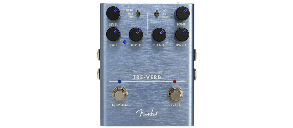 PEDAL GUITARRA TRE-VERB DIGITAL REVERB TREMOLO 234541000 FENDER