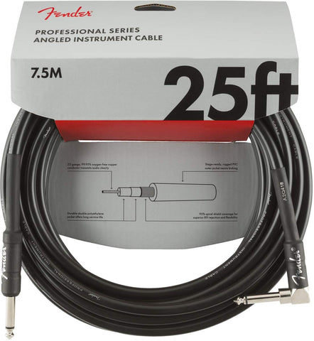 CABLE INSTRUMENTO PROFESSIONAL ANGLE 7,5 MTS BLACK  0990820060 FENDER