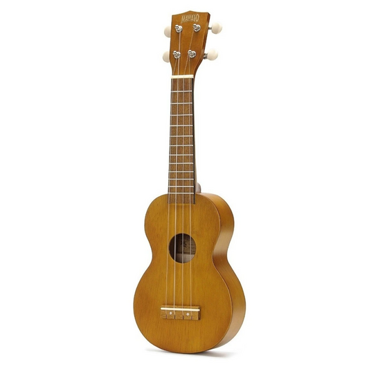 UKULELE SOPRANO  TRANS. BROWN WITH ESSENTIAL PACK MK1tbrk MAHALO