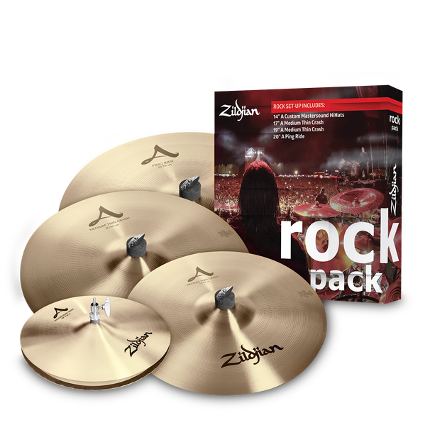 SET PLATILLOS ROCK MUSIC PACK A0801R ZILDJIAN