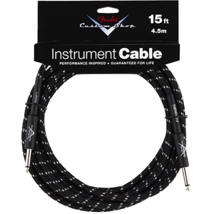CABLE 15' BLACK CUSTOM SHOP FENDER