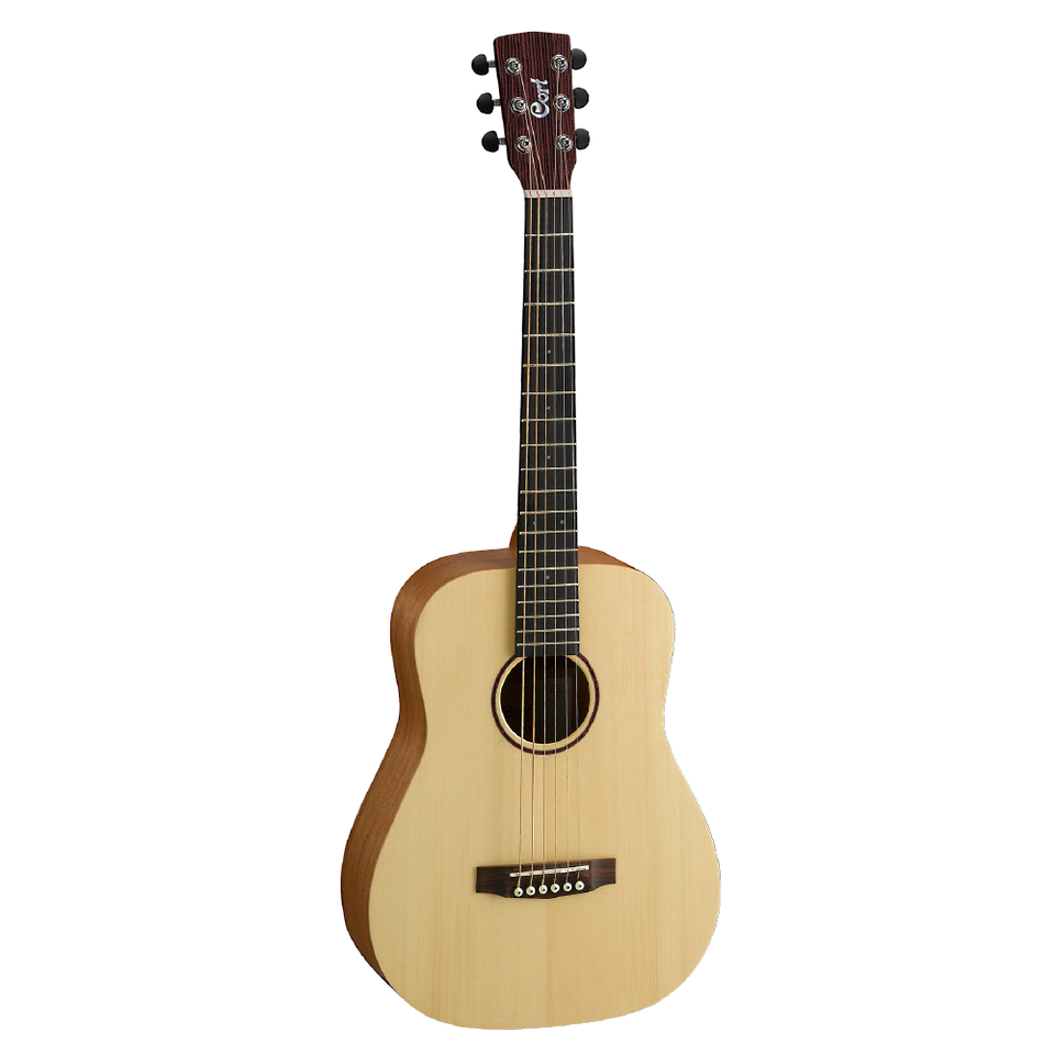 GUITARRA ACUSTICA CORT 3/4 EARTH MINI PORO ABIERTO NATURAL CON ESTUCHE