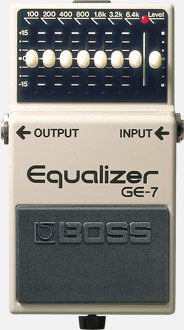 PEDAL EFECTO GUITARRA EQUALIZER 7 BAND GE-7 BOSS