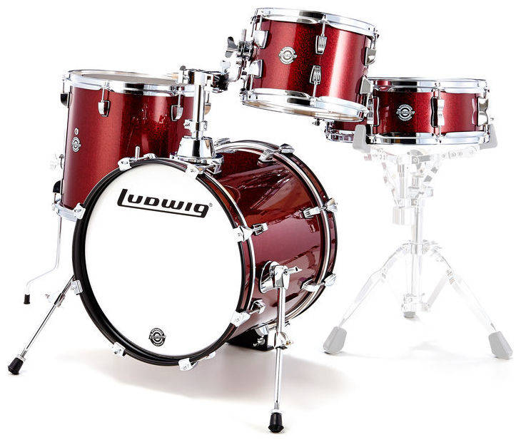 BATERIA BREAKBEATS SHELL PACK WINE RED SPARKLE LC179XX025 LUDWIG