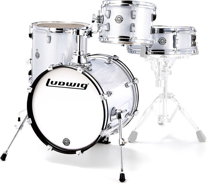 BATERIA BREAKBEATS SHELL PACK WHITE SPARKLE LC179XX028 LUDWIG