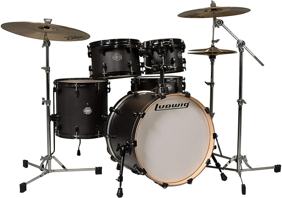 BATERIA  ELEMENT BIRCH 20´-14´ SATIN BLACK LCB520PXSBDIR LUDWIG