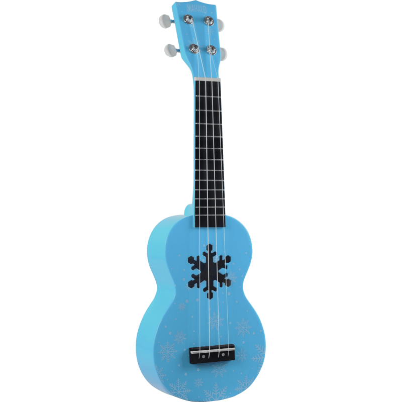 UKULELE SOPRANO DESIGNER  SNOW,GLACIER BLUE, WITH BAG MD1SNBU MAHALO
