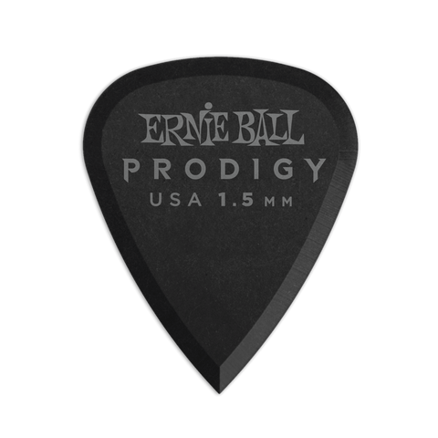 ERNIE BALL PRODIGY BLACK 1S STANDARD 1.5MM PICKS 6-PACK