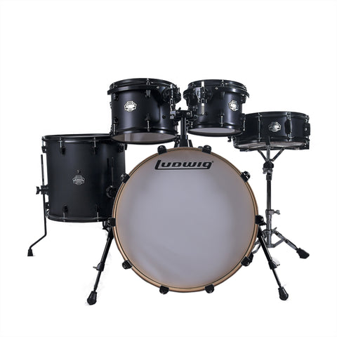 BATERÍA LUDWING ELEMENT BIRCH 22`- 16` SATIN BLACK