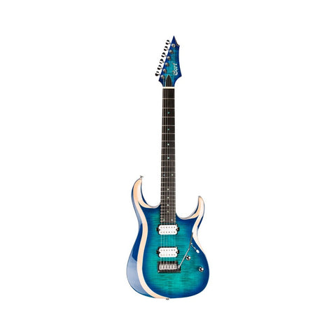 GUITARRA ELECTRICA LIGHT BLUE BURTSX700 DUALITY CORT